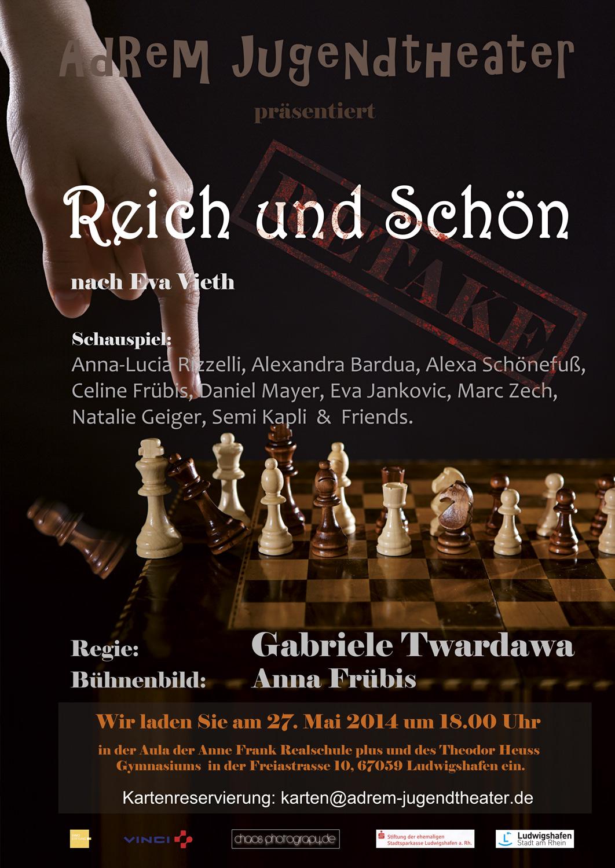 2014_Plakat1-Reich und schnön - © 2014 Robert Skrobich